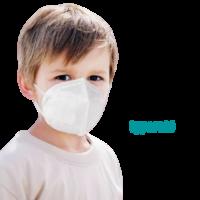 YWSH Gyerek FFP2 (KN95) Védőmaszk Szájmaszk Face mask XS (1-100 db)