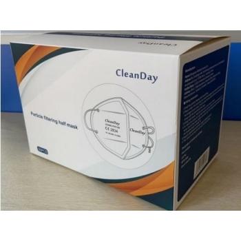 Cleanday szivacs orrtámaszú FFP2 (KN95) maszk + hosszabbító Face Mask (doboz - 50 db)