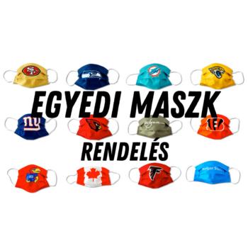 Egyedi Maszk (Type IIR BFE 99% > ffp2) Egyénre szabható, Magyar Face mask