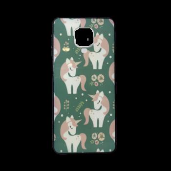 Redmi Note 9 Pro telefontok (Zöld, Unikornis - mintás)