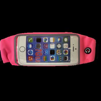 Átlátszó telefon tartó övtáska sportoláshoz (Rózsaszín)