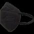 Kép 1/4 - Fekete FFP2 (KN95) 5 rétegű Védőmaszk Black Face Mask (100 db felett)
