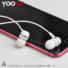Kép 4/4 - YOOUP E02 Acura univerzális fülhallgató mikrofonnal (fehér)